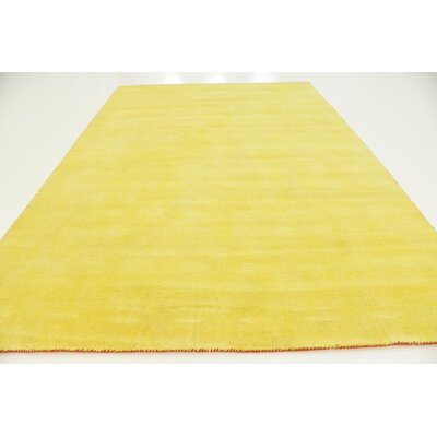 Taul Hand-Knotted Wool Yellow Area Rug Rug Size: 8 2 x 11 6