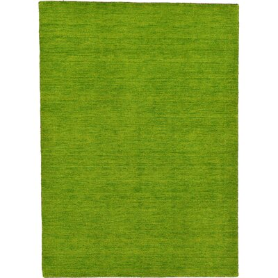 Taul Hand-Knotted Wool Green Area Rug Rug Size: 4 0 x 5 7