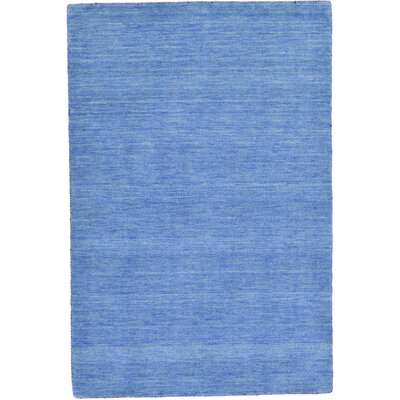 Taul Hand-Knotted Wool Light Blue Area Rug Rug Size: 4 0 x 5 7