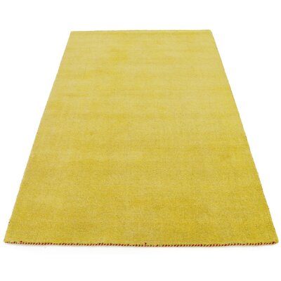 Taul Hand-Knotted Wool Yellow Area Rug Rug Size: 4 0 x 6 0