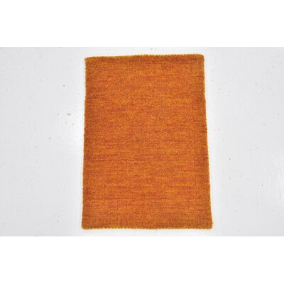 Taul Hand-Knotted Wool Orange Area Rug Rug Size: 1 4 x 2 0