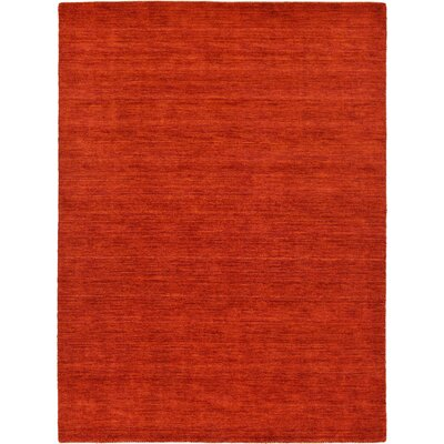 Taul Hand-Knotted Wool Red Area Rug Rug Size: 2 7 x 6 7