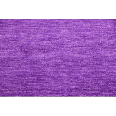 Taul Hand-Knotted Wool Purple Area Rug Rug Size: 4 0 x 5 7