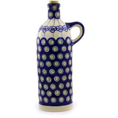 Polish Pottery Bottle 25 oz. Cruet