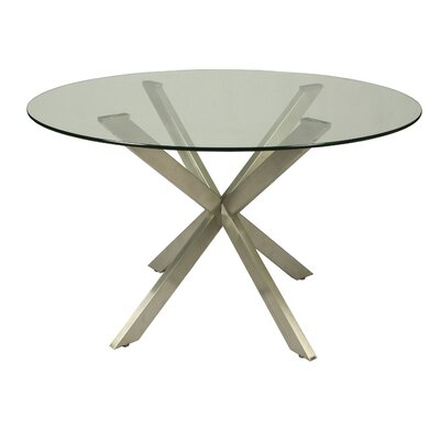 Vittoria Round Glass Table Top Size: 48 L x 48 W