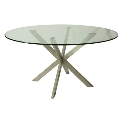 Vittoria Round Glass Table Top Size: 56 L x 56 W