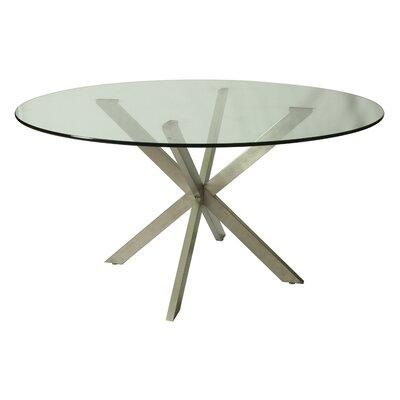 Vittoria Round Glass Table Top Size: 56 L x 56 W