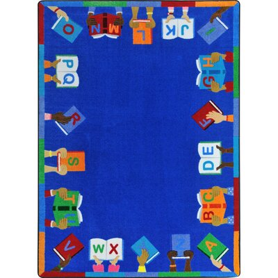 Allman Books Are Handy Blue Area Rug Rug Size: 54 x 78