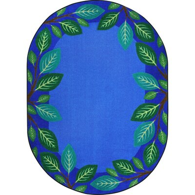 Allred Breezy Branches Blue Area Rug Rug Size: Oval 78 x 109