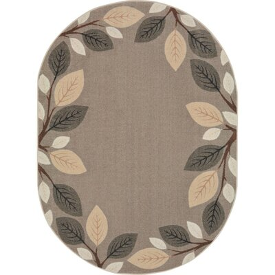 Allred Breezy Branches Brown Area Rug Rug Size: Oval 54 x 78