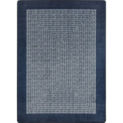 Constantine Navy Area Rug Rug Size: Oval 78 x 109