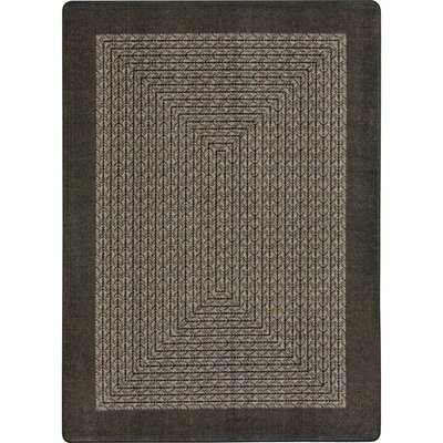Constantine Chocolate Area Rug Rug Size: Oval 78 x 109