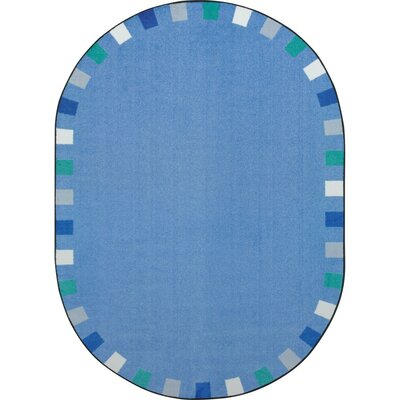 Alpinia on the Border Blue Area Rug Rug Size: Oval 54 x 78