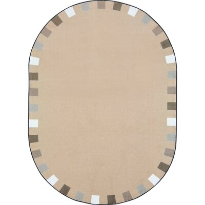 Alpinia on the Border Brown Area Rug Rug Size: Oval 54 x 78