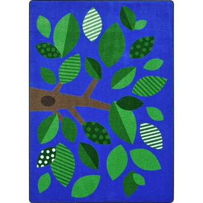 Altman Shady Grove Blue Area Rug Rug Size: 54 x 78
