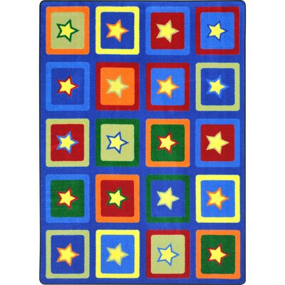 Alvarado Sitting Stars Blue/Yellow Area Rug Rug Size: 78 x 109