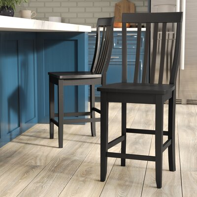 Beckman 24 Bar Stools Finish: Black