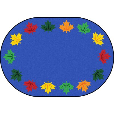 Altair Blue Area Rug Rug Size: Round 7'7
