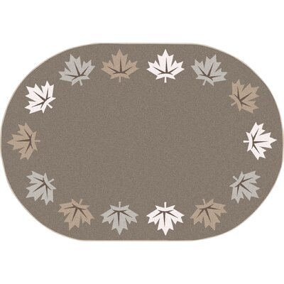Altair Brown Area Rug Rug Size: Oval 78 x 109