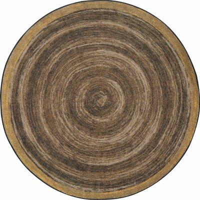 Edwyn Walnut Area Rug Rug Size: Round 77
