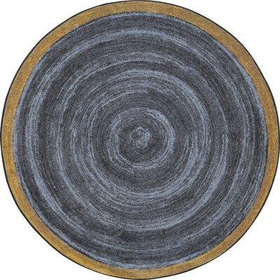 Edwyn Slate Area Rug Rug Size: Round 54