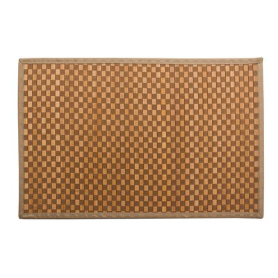 Kato Bamboo Doormat Color: Light Brown and Ivory