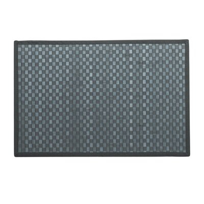 Kato Bamboo Doormat Color: Grey and Teal