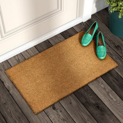 Galentine Plain Doormat Rug Size: Rectangle 16 x 26