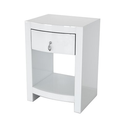 Kamena Curved 1 Drawer Nightstand