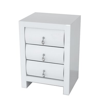 Katarina Curved 3 Drawer Nightstand