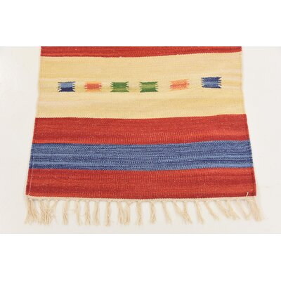 Remmie Hand woven Wool Red Area Rug Rug Size: Runner 2 x 67