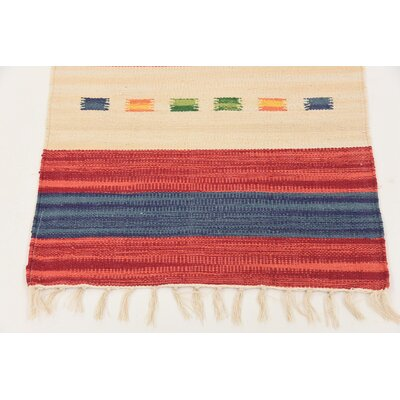Remmie Hand woven Wool Red Area Rug Rug Size: Runner 2 x 71