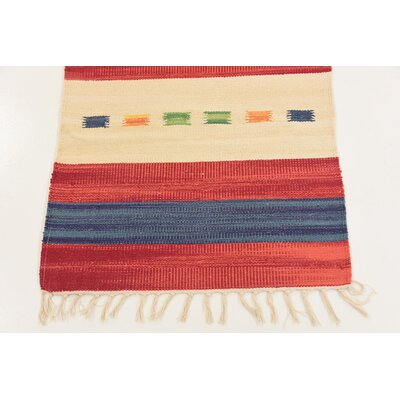 Remmie Hand woven Wool Red Area Rug Rug Size: Runner 2 x 92