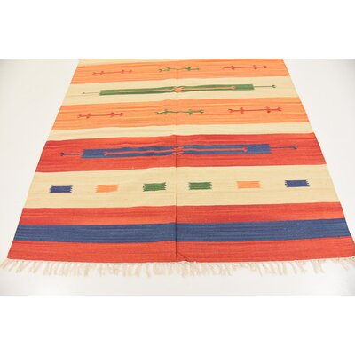 Remmie Hand woven Wool Red Area Rug Rug Size: Rectangle 5 7 x 7 10