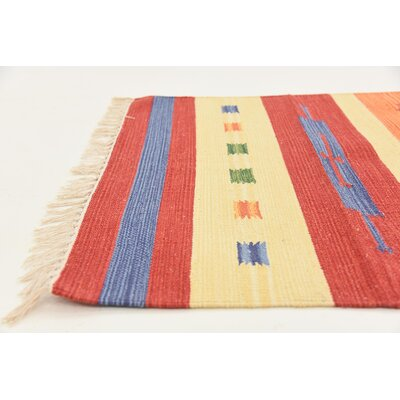 Remmie Hand woven Wool Red Area Rug Rug Size: Rectangle 3 x 5