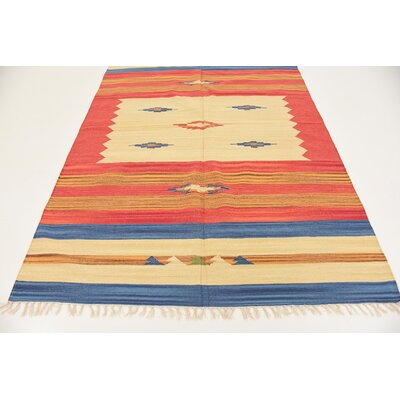 Dahlia Hand woven Wool Rust Red Area Rug Rug Size: Runner 2 x 71
