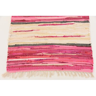 Cohen Hand woven Wool Pink Area Rug Rug Size: Runner 2 x 92
