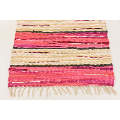 Cohen Hand woven Wool Pink Area Rug Rug Size: Rectangle 2 x 4