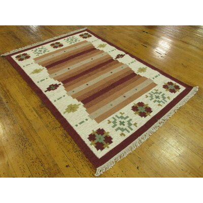 Rosevale Hand woven Wool Beige/Brown Area Rug