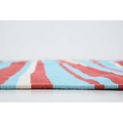 Brookvale Hand woven Wool Blue/Red Area Rug