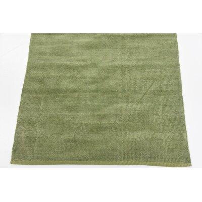 Axton Hand woven Wool Green Area Rug