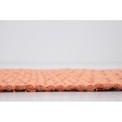 Attie Hand woven Wool Orange Area Rug