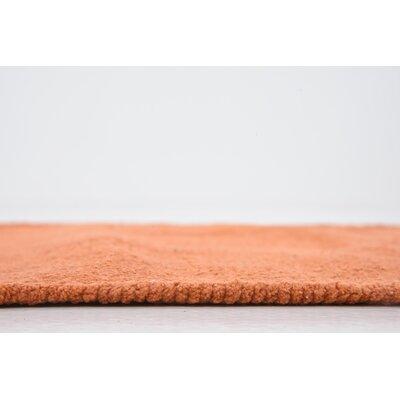 Arthurson Hand woven Wool Orange Area Rug