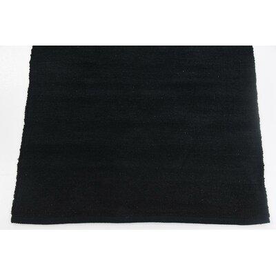 Serita Hand woven Wool Black Area Rug Rug Size: 2 7 x 5
