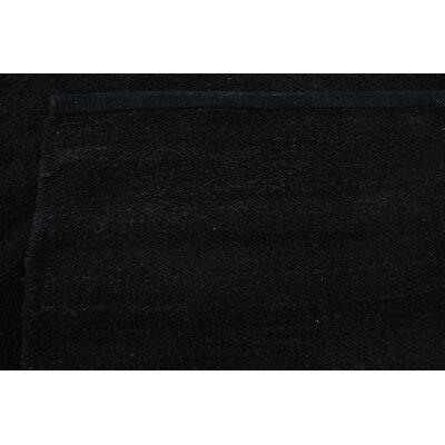 Serita Hand woven Wool Black Area Rug Rug Size: 4 x 5 7