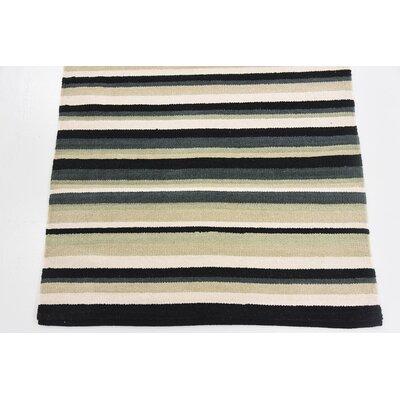 Setsuko Hand woven Wool Black Area Rug Rug Size: 2 7 x 5