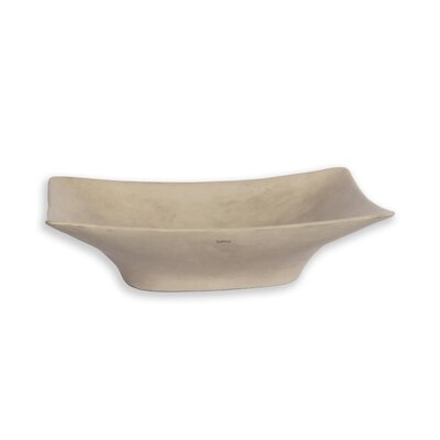 New Magdalena Stone Rectangular Vessel Bathroom Sink with Overflow Sink Finish: Light Gray