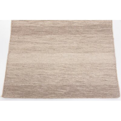 Shae Hand woven Wool Brown Area Rug Rug Size: 2 7 x 5