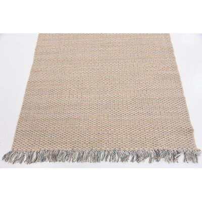 Brie Hand Woven Wool Beige Area Rug