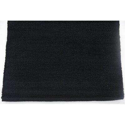 Serita Hand woven Wool Black Area Rug Rug Size: 2 x 3